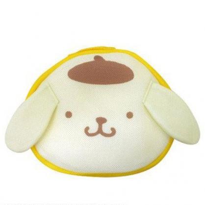 小禮堂 布丁狗 造型手提網狀洗衣袋 洗衣網袋 護洗袋 手提網袋 (黃棕 大臉)