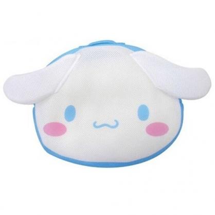 小禮堂 大耳狗 造型手提網狀洗衣袋 洗衣網袋 護洗袋 手提網袋 (藍白 大臉)
