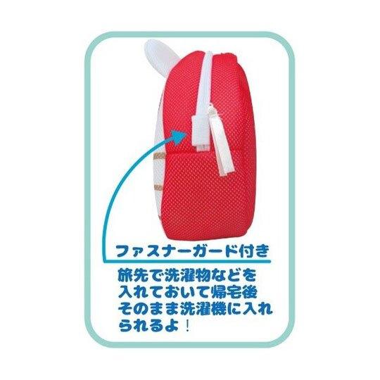 小禮堂 酷洛米 造型手提網狀洗衣袋 洗衣網袋 護洗袋 手提網袋 (紫白 大臉)
