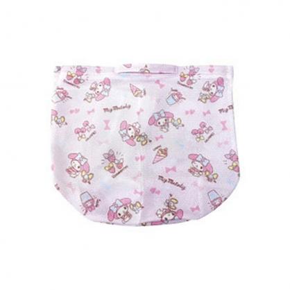 小禮堂 美樂蒂 圓筒型手提網狀洗衣袋 洗衣網袋 護洗袋 手提網袋 (粉 滿版)