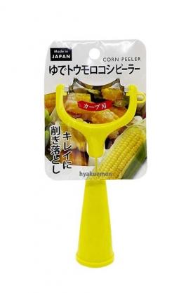 小禮堂 ECHO 日製 玉米專用削皮器 玉米粒刨刀 皮引 (黃)