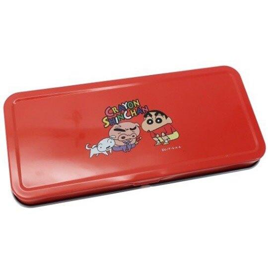 小禮堂 蠟筆小新 日製 掀蓋鐵筆盒 鉛筆袋 鉛筆盒 文具盒 (紅 小白)
