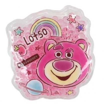 小禮堂 迪士尼 玩具總動員 熊抱哥 造型透明果凍顆粒保冷劑 保冰劑 冰敷袋 (桃 大臉)