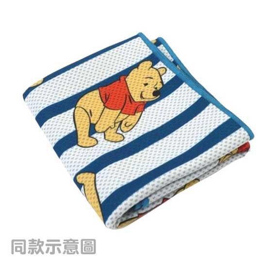 小禮堂 迪士尼 史迪奇 涼感長毛巾 附夾鏈袋 冰巾 運動毛巾 涼感巾 30x100cm (藍白 滿版)