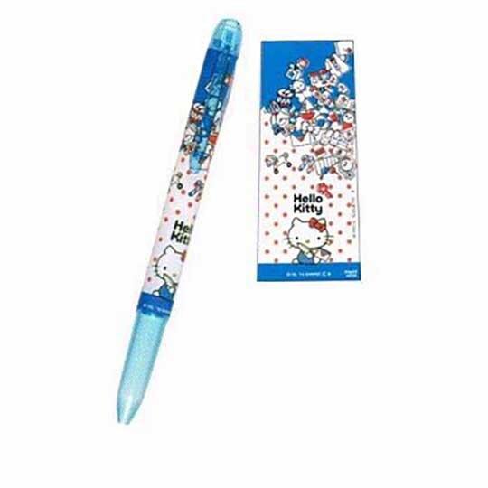 小禮堂 Hello Kitty 日製 三色筆筆桿 替換筆桿 多色筆桿 0.3mm 0.5mm HI-TEC (藍 側坐)