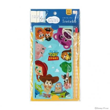 小禮堂 迪士尼 玩具總動員 B6手帳專用夾鏈袋 日誌夾鏈袋 防水筆袋 文具袋 (藍 圍繞)