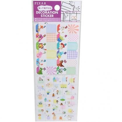 小禮堂 迪士尼 玩具總動員 日製 造型年曆貼紙 手帳貼紙 標記貼紙 透明貼紙 (紫 數字)