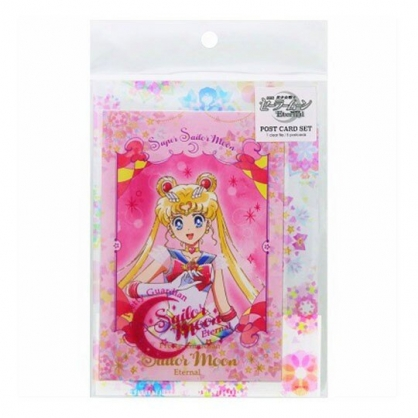 小禮堂 美少女戰士 日製 明信片卡片 附資料夾 小卡片 萬用卡片 (桃 月野兔)