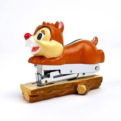 小禮堂 迪士尼 蒂蒂 造型陶瓷釘書機 隨身釘書機 裝訂機 (淺棕 趴姿)
