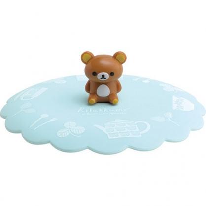 小禮堂 懶懶熊 立體造型矽膠杯蓋 防漏杯蓋 造型杯蓋 直徑11cm (綠棕 坐姿)