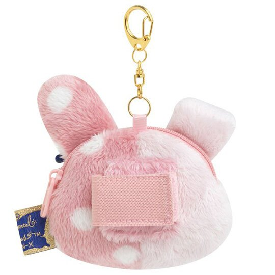小禮堂 憂傷馬戲團 造型絨毛零錢包 掛飾零錢包 小物包 耳機包 (粉米 玫瑰帽)