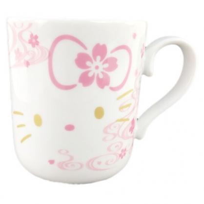 小禮堂 Hello Kitty 日製 陶瓷馬克杯 咖啡杯 茶杯 陶瓷杯 YAMAKA陶瓷 (粉白 櫻花)