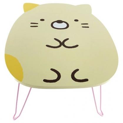 小禮堂 角落生物 貓咪 造型三腳木質折疊桌 小木桌 和室桌 筆電桌 矮桌 (黃)
