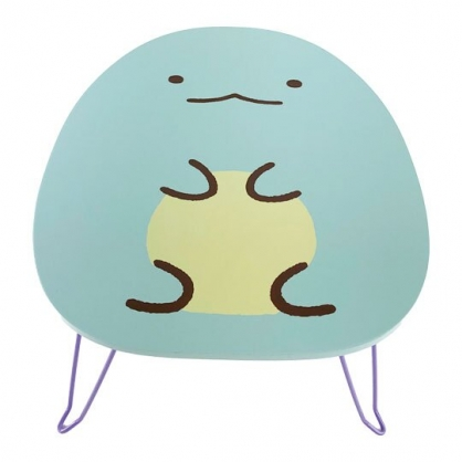 小禮堂 角落生物 恐龍 造型三腳木質折疊桌 小木桌 和室桌 筆電桌 矮桌 (藍)