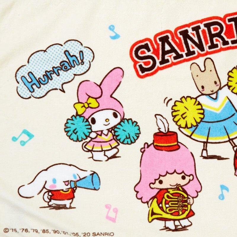 小禮堂 Sanrio大集合 純棉割絨浴巾 身體毛巾 運動毛巾 40x110cm (米 應援啦啦隊)