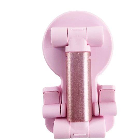 小禮堂 Hello Kitty 直立式折疊手機架 升降手機架 手機支架 平板架 (粉 大臉)