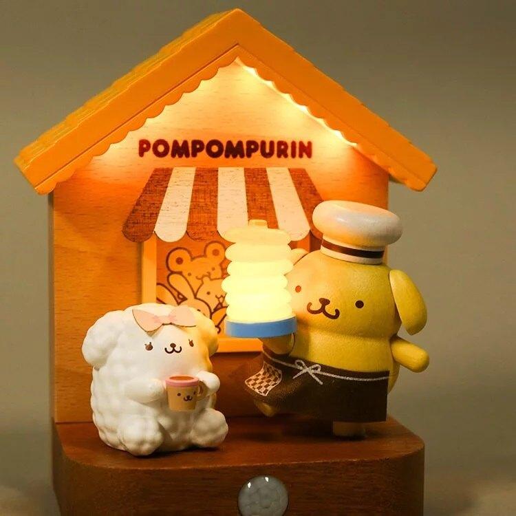 小禮堂 布丁狗 造型木質壁掛感應夜燈 床頭燈 小夜燈 擺飾燈 (黃棕 烘焙)