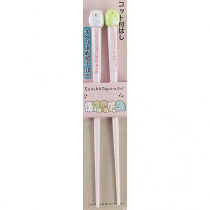 小禮堂 角落生物 造型塑膠筷 造型筷 環保筷 筷子 18cm (綠白 坐姿)