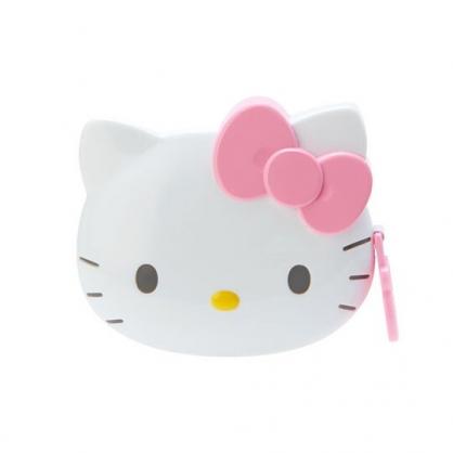 小禮堂 Hello Kitty 造型伸縮捲尺 皮尺 量衣尺 150cm (粉白 大臉)