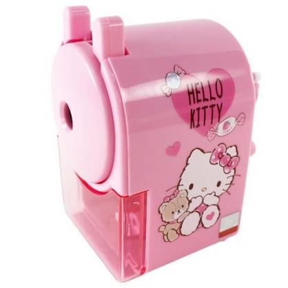 小禮堂 Hello Kiity 五段式削鉛筆機 削鉛筆器 筆削 (粉 小熊)