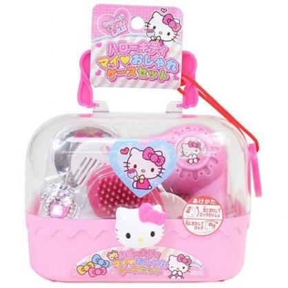 小禮堂 Hello Kitty 吹風機玩具組 附手提盒 梳妝玩具 扮家家酒 (粉 大臉)