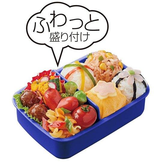 小禮堂 恐龍 日製 方形透明蓋微波便當盒 塑膠便當盒 保鮮盒 450ml  (深藍 火山)