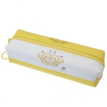 小禮堂 神奇寶貝 皮質雙層拉鍊筆袋 皮質筆袋 鉛筆盒 鉛筆袋 (黃白 兩隻)