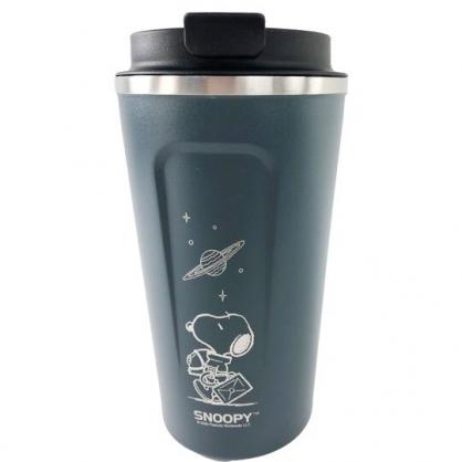小禮堂 史努比 不鏽鋼隨行杯 隨身瓶 咖啡杯 保溫杯 510ml (深藍 太空人)