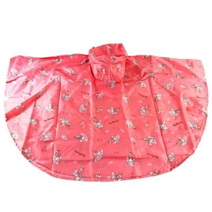 小禮堂 美樂蒂 兒童披風式雨衣 附收納袋 斗篷雨衣 兒童雨衣 130-145cm (L 桃)