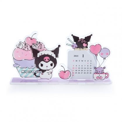 小禮堂 酷洛米 日製 2021 造型壓克力桌曆 行事曆 月曆 年曆 (紫 甜點)