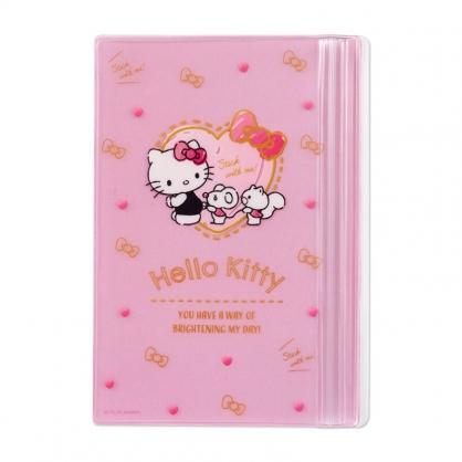 小禮堂 Hello Kitty B6手帳專用夾鏈袋 日誌夾鏈袋 文具袋 筆袋 (粉 愛心框)