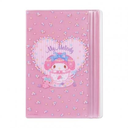 小禮堂 美樂蒂 B6手帳專用夾鏈袋 日誌夾鏈袋 文具袋 筆袋 (粉 愛心框)