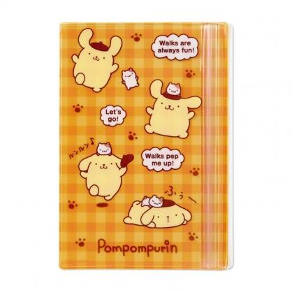 小禮堂 布丁狗 B6手帳專用夾鏈袋 日誌夾鏈袋 文具袋 筆袋 (黃 格紋)