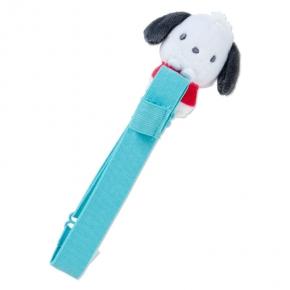 小禮堂 帕恰狗 絨毛玩偶手帳專用束帶 筆記本束帶 日誌束帶 (綠紅)