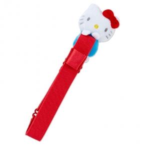 小禮堂 Hello Kitty 絨毛玩偶手帳專用束帶 筆記本束帶 日誌束帶 (紅白)