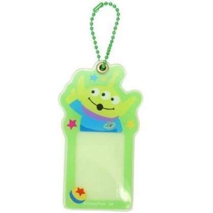 小禮堂 迪士尼 三眼怪 造型壓克力相片吊飾 相框鑰匙圈 相片吊飾 (綠藍 大臉)
