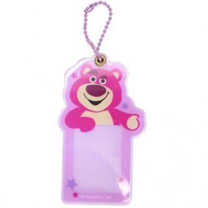 小禮堂 迪士尼 熊抱哥 造型壓克力相片吊飾 相框鑰匙圈 相片吊飾 (桃紫 大臉)