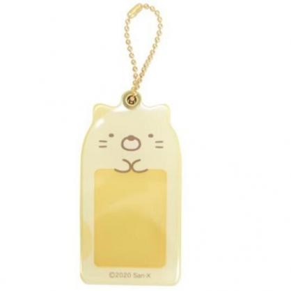 小禮堂 角落生物 貓咪 造型壓克力相片吊飾 相框鑰匙圈 相片吊飾 (黃 大臉)
