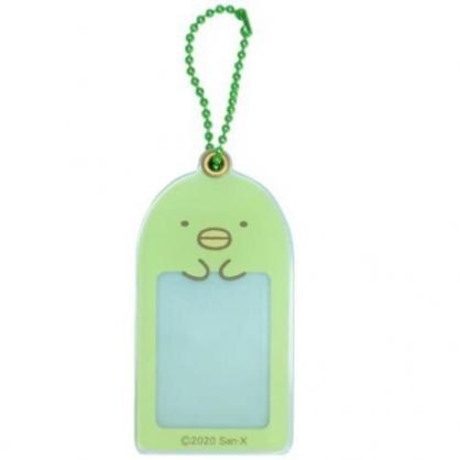 小禮堂 角落生物 企鵝 造型壓克力相片吊飾 相框鑰匙圈 相片吊飾 (綠 大臉)