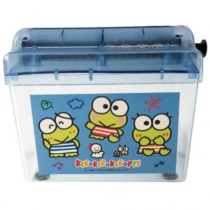 小禮堂 大眼蛙 桌上型手動碎紙機 手搖碎紙機 碎紙器 絞紙器 (藍 音符)