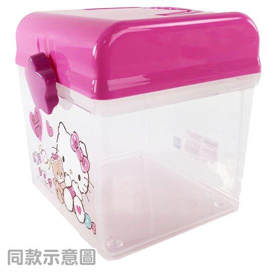 小禮堂 大眼蛙 方形塑膠手提收納箱 工具箱 藥箱 針線箱 (綠 朋友)