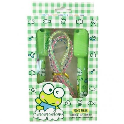 小禮堂 大眼蛙 計數器跳繩 環保跳繩 兒童跳繩 有氧運動 (綠 格紋)