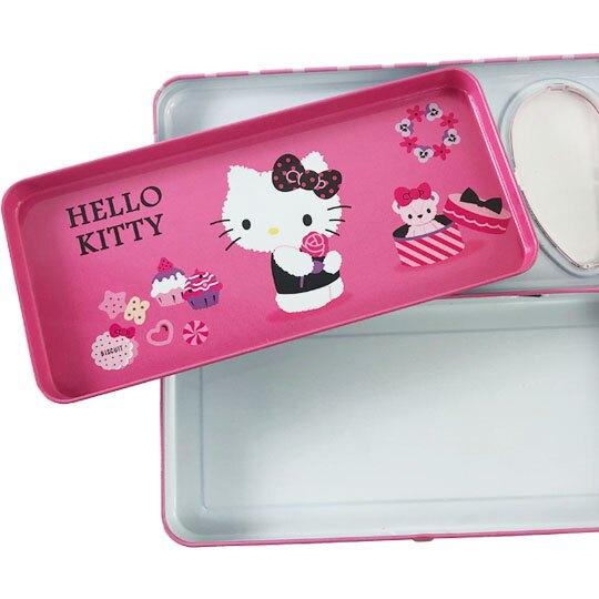 小禮堂 Hello Kitty 掀蓋雙層鐵筆盒 鉛筆袋 鉛筆盒 (2款隨機)