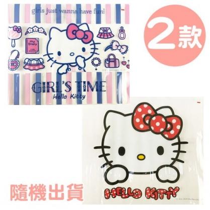 小禮堂 Hello Kitty 方形透明矽膠桌墊 環保桌墊 防水餐墊 36x45cm (2款隨機)