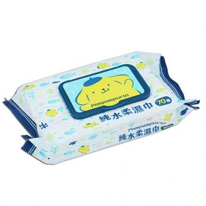小禮堂 布丁狗 70抽純水濕紙巾包附蓋 清潔濕巾 柔濕巾 (藍黃 魚)