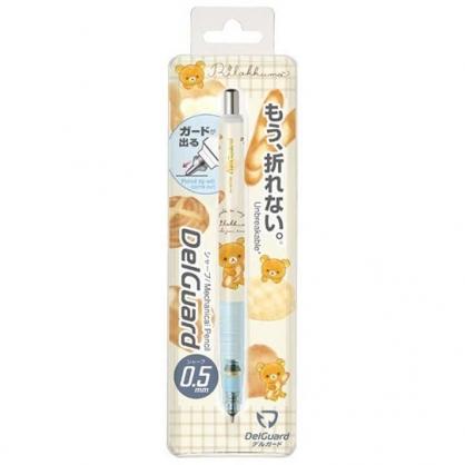 小禮堂 懶懶熊 日製 自動鉛筆 自動筆 0.5mm DelGuard (藍棕 麵包)