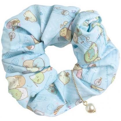 小禮堂 角落生物 珍珠絲質彈力髮圈 大腸圈 造型髮束 (藍 樂隊)
