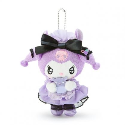 小禮堂 酷洛米 絨毛吊飾 玩偶吊飾 玩偶鑰匙圈 (紫黑 生日女僕)