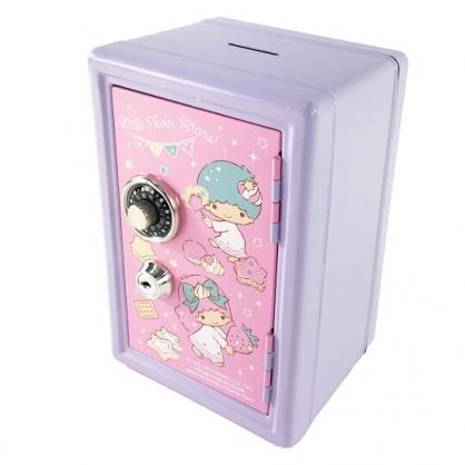 小禮堂 雙子星 保險箱造型存錢筒附鎖 金屬撲滿 儲金筒 收納鐵盒 (紫)