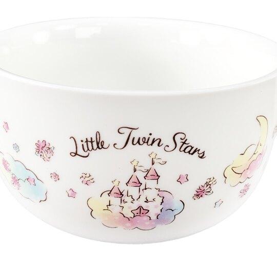 小禮堂 雙子星 兩件式陶瓷碗盤組 湯碗 飯碗 菜盤 餐盤 (白 45週年)